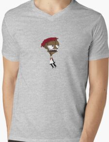 Famous Dex Cartoon Mens V-Neck T-Shirt