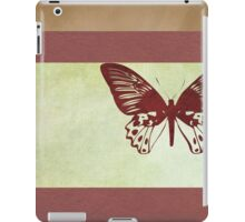 Butterfly flying over book cover iPad Case/Skin