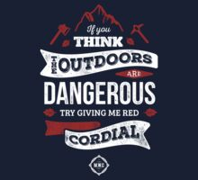 Red Cordial is Dangerous [White & Red] Baby Tee