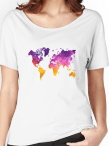 World map in watercolor Women's Relaxed Fit T-Shirt