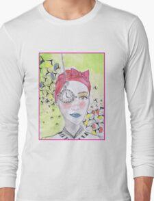 clock girl Long Sleeve T-Shirt