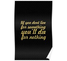 If you don't live... Gym Motivational Quote Poster