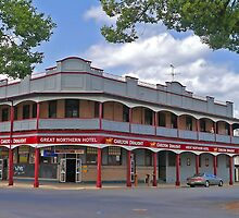 Great Northern Hotel, South Grafton, New South Wales, Australia, (panorama) by Margaret  Hyde