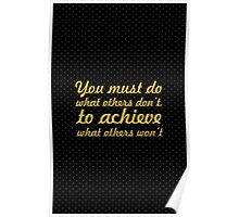 You must do... Gym Motivational Quote Poster
