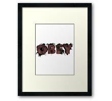 Wooden Obey Framed Print