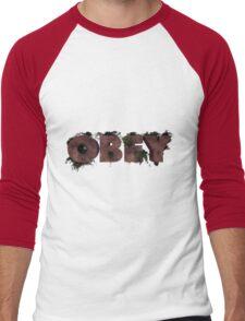 Wooden Obey Men's Baseball ¾ T-Shirt