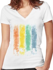 The 4 starters Women's Fitted V-Neck T-Shirt
