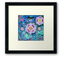 Blue Luminance Framed Print