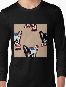 French Bulldog in Camel Baguette Long Sleeve T-Shirt