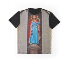Christian figure of a Saint at a 14th century church in England Graphic T-Shirt