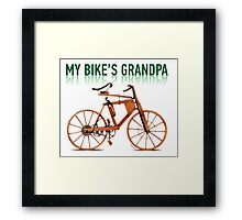 OLD BICYCLES 1 Framed Print