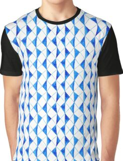 Bright blue watercolor rhombuses pattern  Graphic T-Shirt