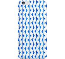 Bright blue watercolor rhombuses pattern  iPhone Case/Skin