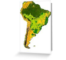 Physical South America Greeting Card