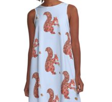 Red squirrel A-Line Dress