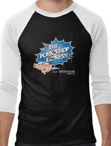 Pork Chop Express - Distressed Blue Variant Men's Baseball ¾ T-Shirt