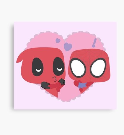 SpideyPool Canvas Print