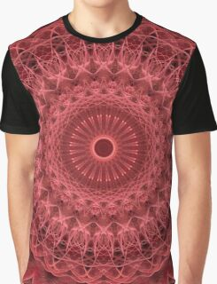 Mandala in red and pink colors Graphic T-Shirt