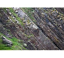 Layers of Tilted Stone Photographic Print