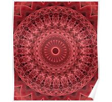 Mandala in red and pink colors Poster