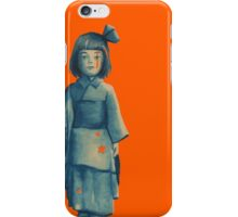 little girl in blue iPhone Case/Skin