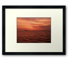 Land on Sea when sunset Framed Print