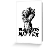 Black Lives Matter Race Unity Say No Racism T-shirt Greeting Card