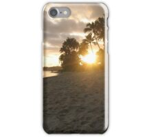 Hawaiian beach sunset iPhone Case/Skin