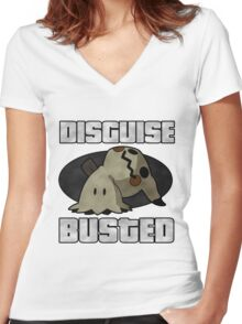 Busted! Women's Fitted V-Neck T-Shirt