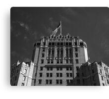 Hotel & Flag Canvas Print