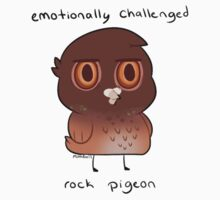 Emotionally Challenged Rock Pigeon Kids Tee
