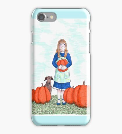 Pumpkin harvest iPhone Case/Skin