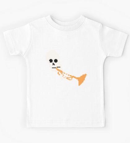 Doot Mr.Skeltal Meme Pixel Art 2spooky4me Kids Tee