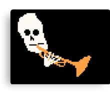 Doot Mr.Skeltal Meme Pixel Art 2spooky4me Canvas Print