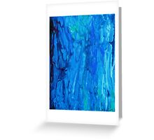 Abstract Dripping Ocean Painting Greeting Card