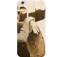 Leaning on a washtub iPhone Case/Skin