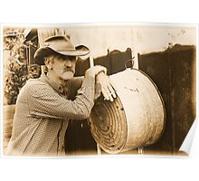 Leaning on a washtub Poster