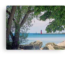 Summertime Along Lake Michigan Canvas Print