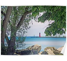 Summertime Along Lake Michigan Poster