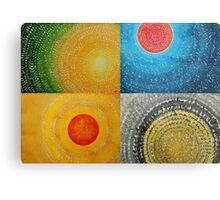 The Four Seasons collage Metal Print