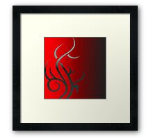 Triba,l Red Fade Framed Print
