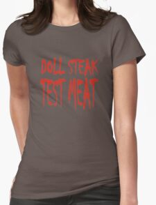 Doll Steak Test Meat Solid Womens Fitted T-Shirt