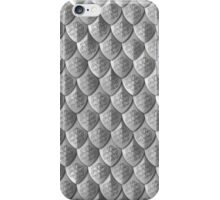 Celtic Knot Scale Armor - Silver iPhone Case/Skin
