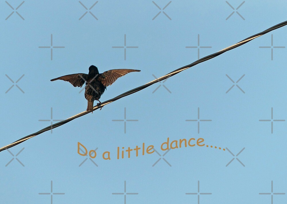 """Do a Little Dance.."" Greeting Card by Susan S. Kline"
