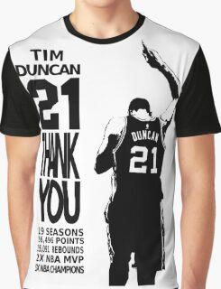 Tim Duncan Retire - San Antonio Spurs NBA Graphic T-Shirt