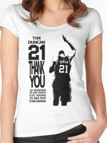 Tim Duncan Retire - San Antonio Spurs NBA Women's Fitted Scoop T-Shirt