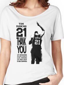 Tim Duncan Retire - San Antonio Spurs NBA Women's Relaxed Fit T-Shirt