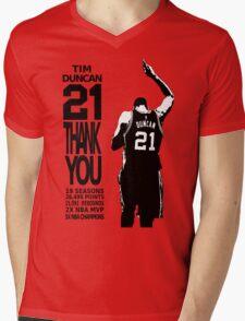 Tim Duncan Retire - San Antonio Spurs NBA Mens V-Neck T-Shirt