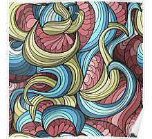 free vector chaotic pattern Poster