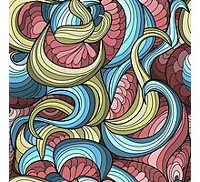 free vector chaotic pattern Photographic Print